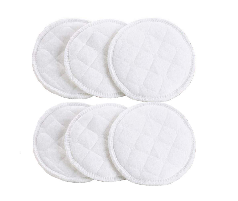 12Pcs Nursing Cotton Pads Breastfeeding Pads-Eco -Friendly Washable Soft Organic and Comfortable Mild and No-Stimulation (White)