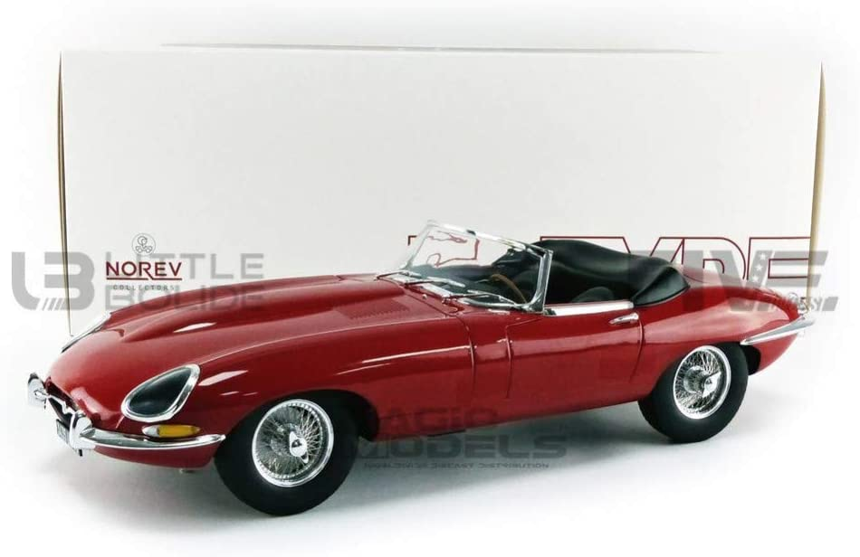 1962 Jaguar E-Type Cabriolet Red 1/12 Diecast Model Car by Norev 122720