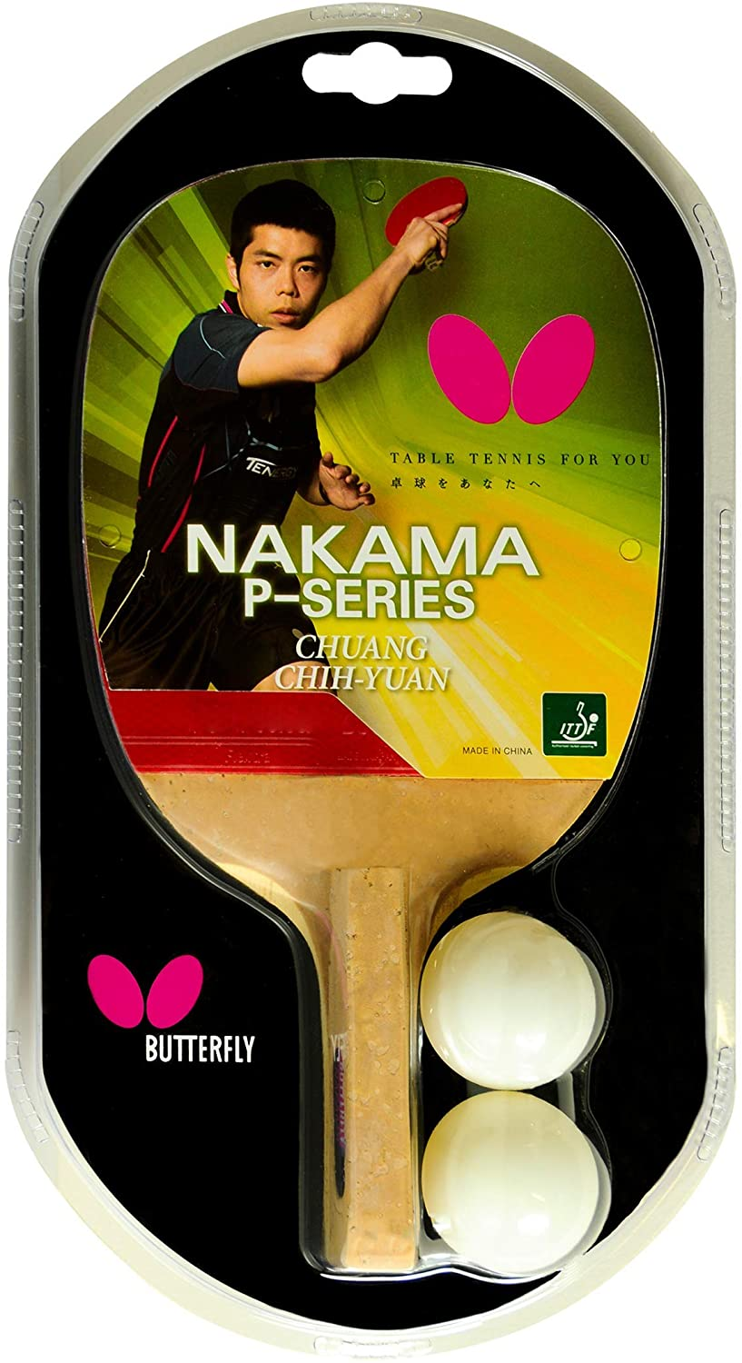 Butterfly Nakama P5 Japanese Penhold Table Tennis Racket | Nakama Series | Outstanding Control with Reliable Speed and Spin | Recommended for Beginning Level Players