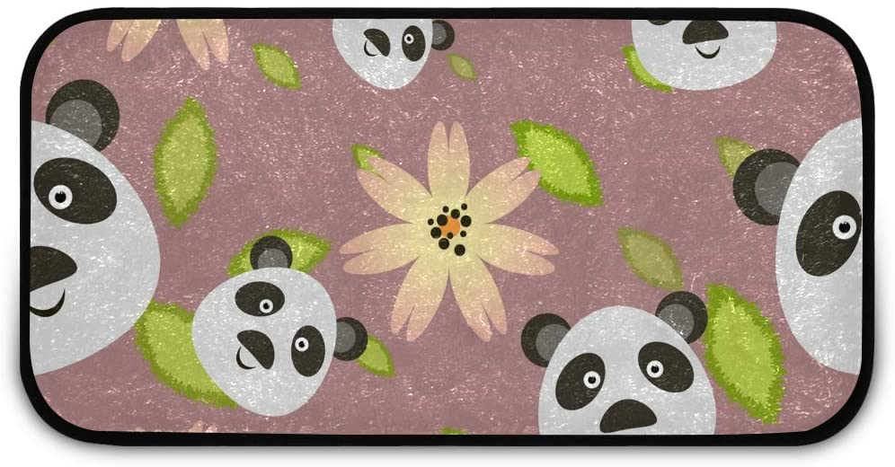 Rectangle Shaggy Rug Floor Mat for Kids Panda Bear Indoor Anti-Slip Rug Rectangle Carpet