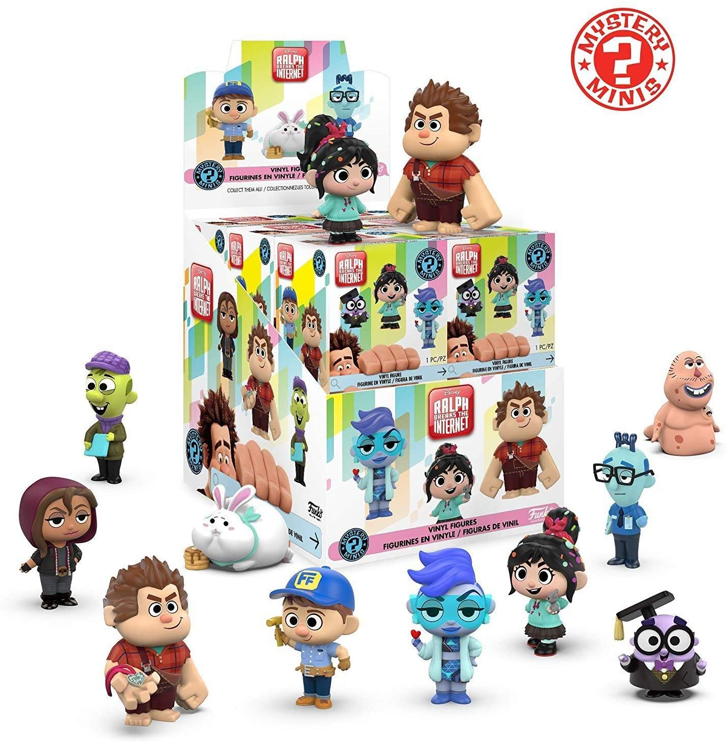 Funko Mystery Minis: Wreck-It Ralph 2 (One Mystery Figure), Multicolor
