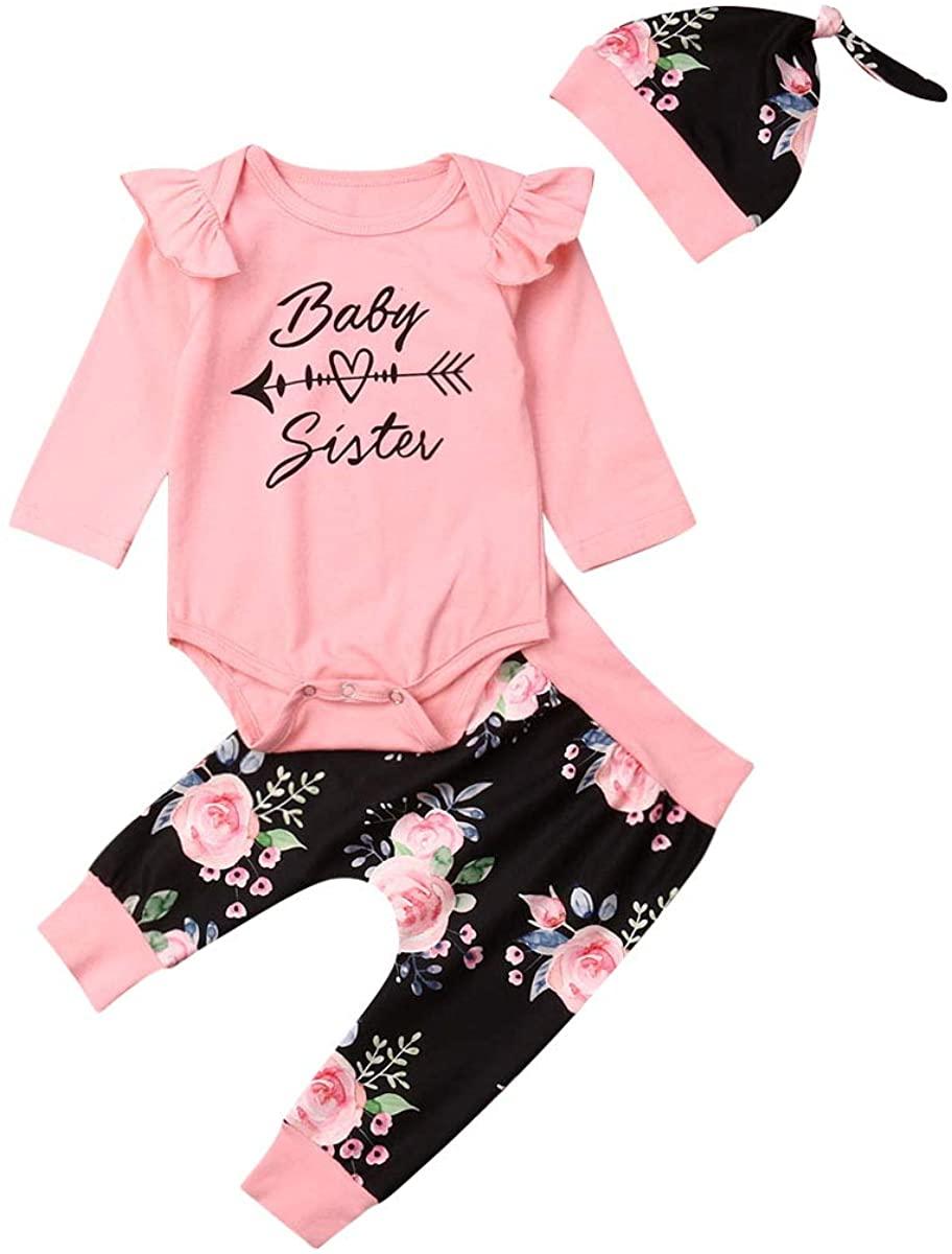 Newborn Baby Girl Clothes Outfits - Bodysuit Infant Bodysuit Tops Pants Set