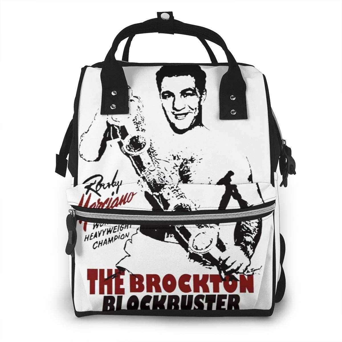 Rocky Marciano The Brockton Blockbuster Fashion Durable Large Capacity Diaper Bag Mommy Backpack