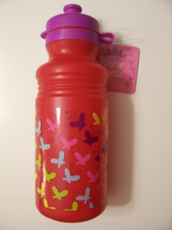 Plastic 17.41 oz Water Bottle (Butterflies)