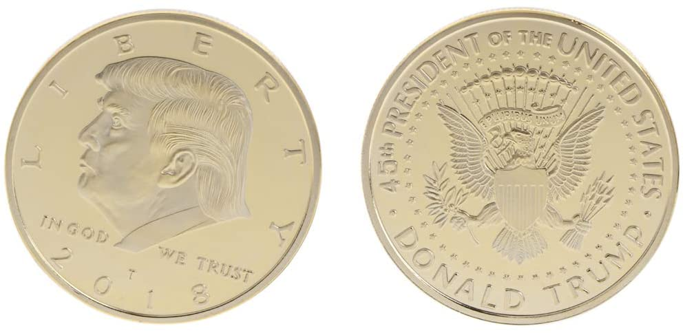 chefensty Commemorative Coin 2018 American President Trump Collection, Art Gift BTC Bitcoin