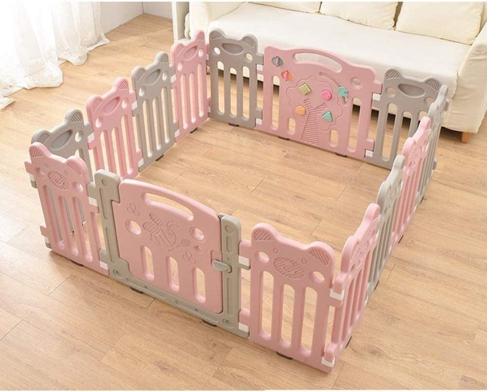 JN Child Safety Fence Baby Playpen Twins Safety Play Playpens Kids Activity Centre Fold Panel Gate Protection Fence Children's playpen