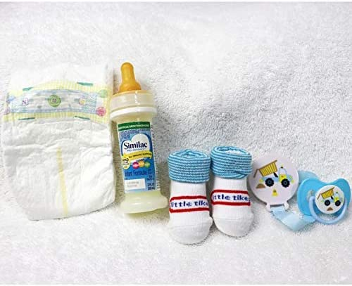 Reborn Baby Doll Boys Fake Milk Bottle Modified Putty Pacifier Matching Brush Comb Diaper Set