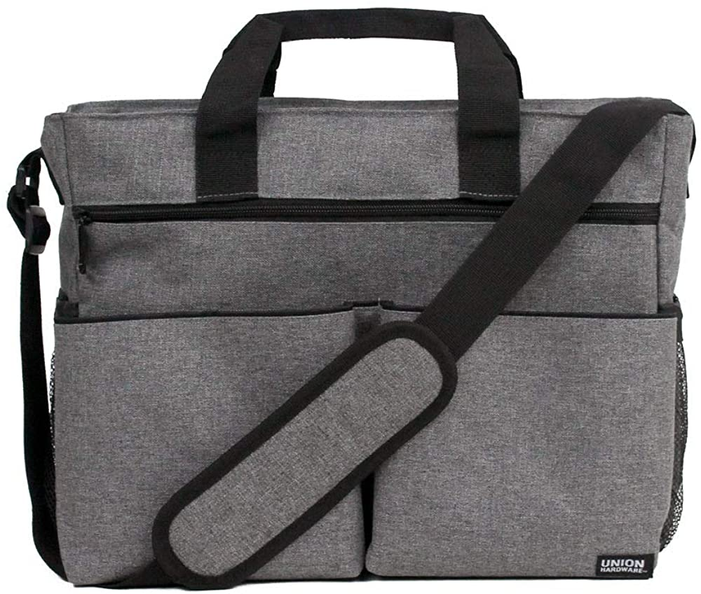 Union Hardware Messenger Diaper Bag with Changing Pad - Great for Dads
