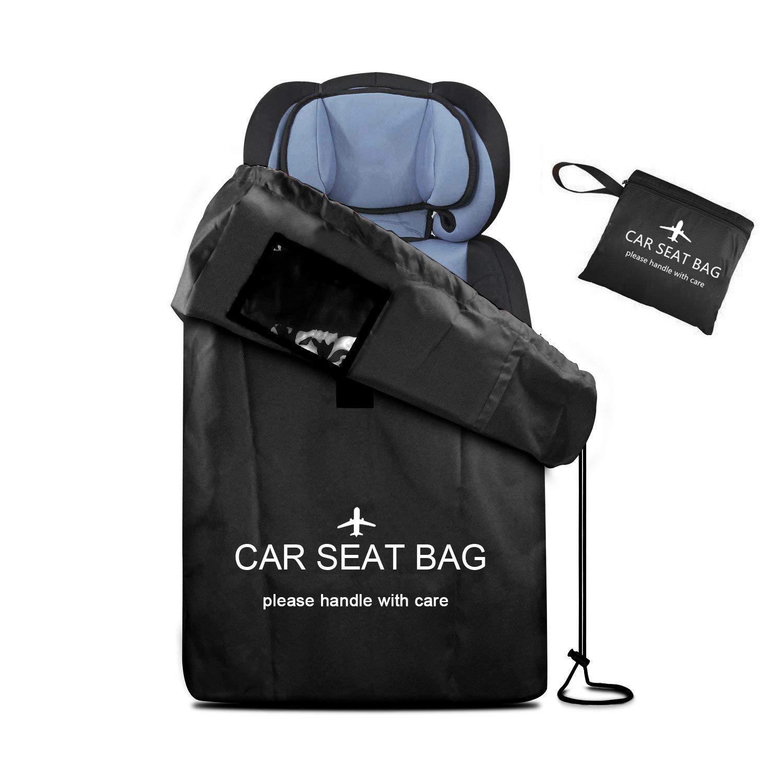 Car Seat Bag Large Gate Check Travel Luaage Bag with Backpack Shoulder Straps, Lightweight Car Seat Storage Bag Stroller Carrier for Airplanes Trains