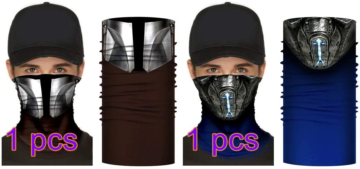 Coslive Super Hero Bandana Mask Mortal Kombat SUB-0 Headband Face Scarf Hat Neck Gaiter