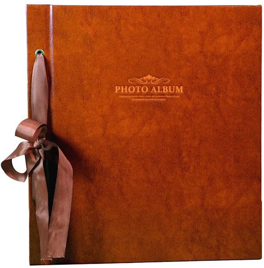 Large Capacity Interstitial Photo Album, Retro PU Memorial Album Holds 1000 Photos 6X4(4R) 12.6
