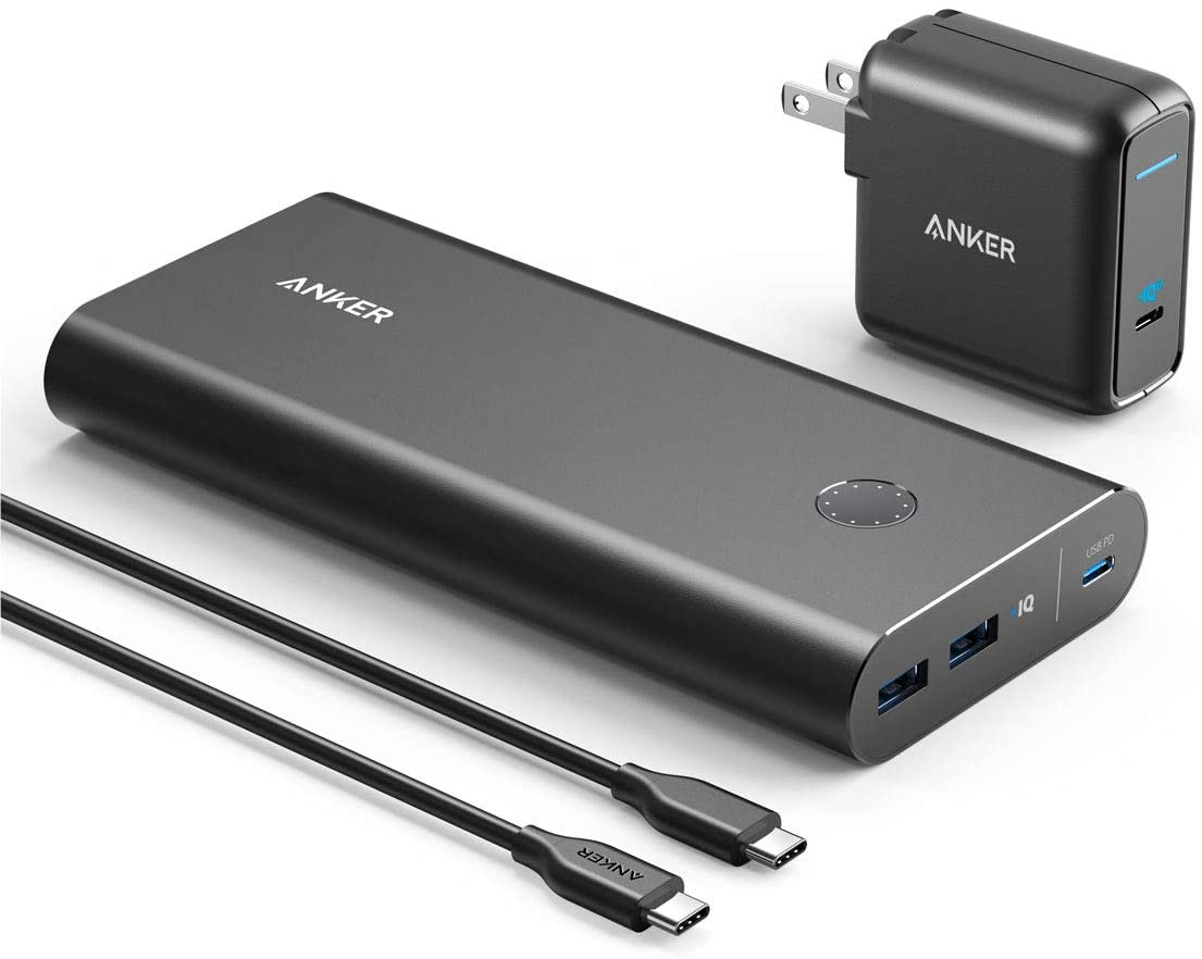 Anker PowerCore+ 26800mAh PD 45W with 60W PD Charger, Power Delivery Portable Charger Bundle for USB C MacBook Air/Pro/Dell XPS, iPad Pro 2018, iPhone 11 Pro / 11 / XS Max / X / 8, and More