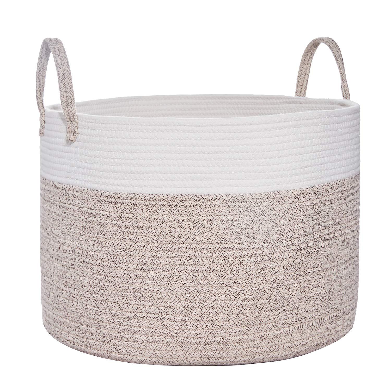 Large Cotton Rope Basket | Wide 20