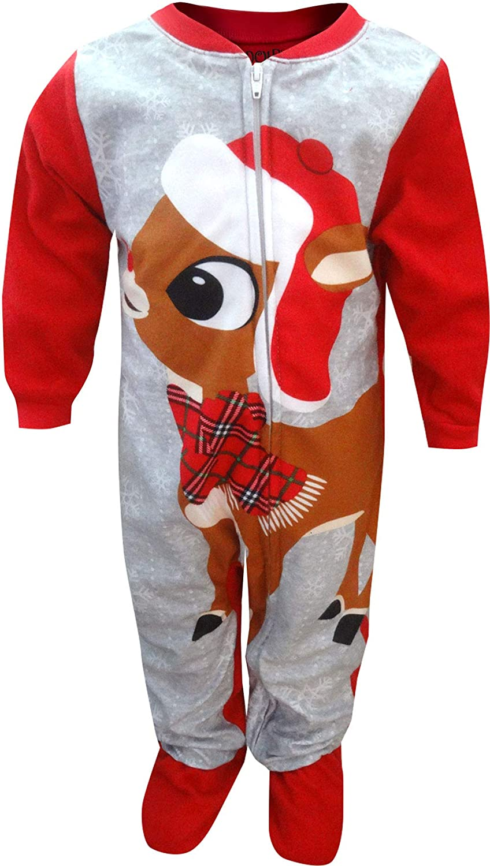 Rudolph Boys The Red-Nosed Reindeer Infant Blanket Sleeper