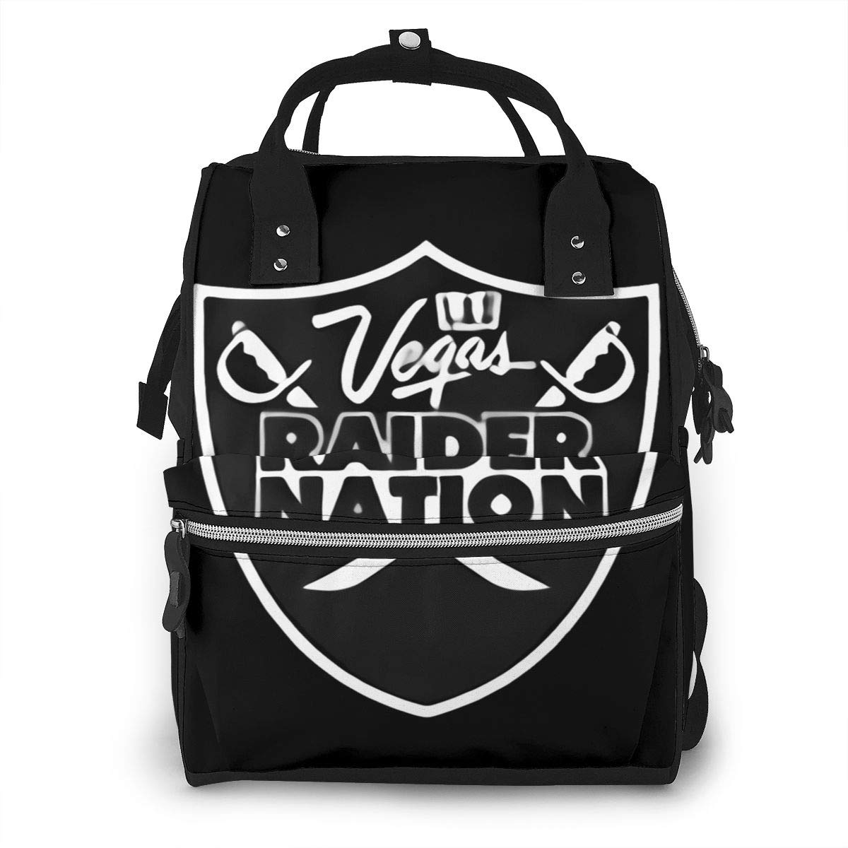 Details About Las Vegas Raiders Graphic Durable Large Capacity Diaper Bag Mommy Backpack
