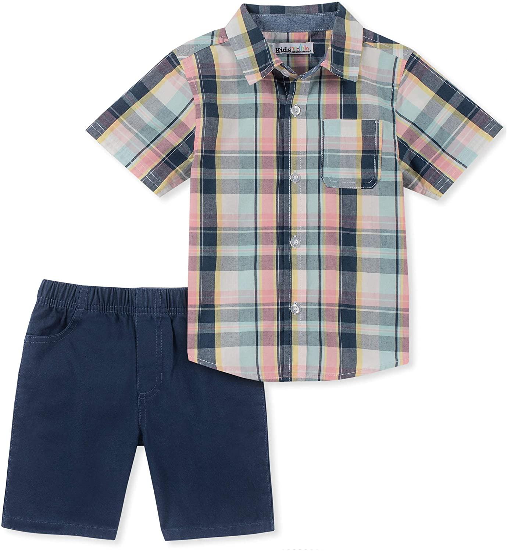 Kids Headquarters Baby Boys 2 Pieces Shirt Shorts Set