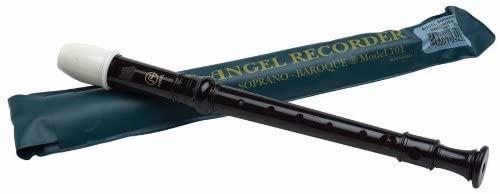 Angel 101 Soprano Recorder, Key of C, Black