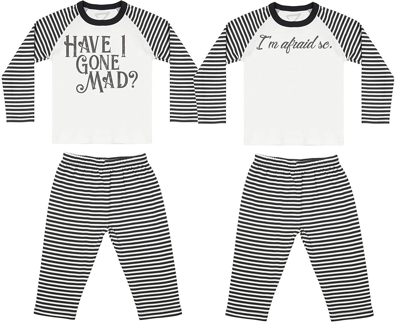 Zarlivia Clothing Have I Gone Mad? Baby Twin Pyjamas, Baby Twins Nightwear, Baby Twins Gift