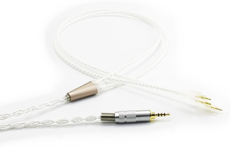 NewFantasia 2.5mm Trrs Male Balanced HiFi Cable Compatible with Sennheiser HD650, HD600, HD580, HD660S, HD58X, Massdrop HD6XX, HD565 Headphone and for Astell&Kern AK240 AK380 onkyo AK320 1.9m/6.2ft
