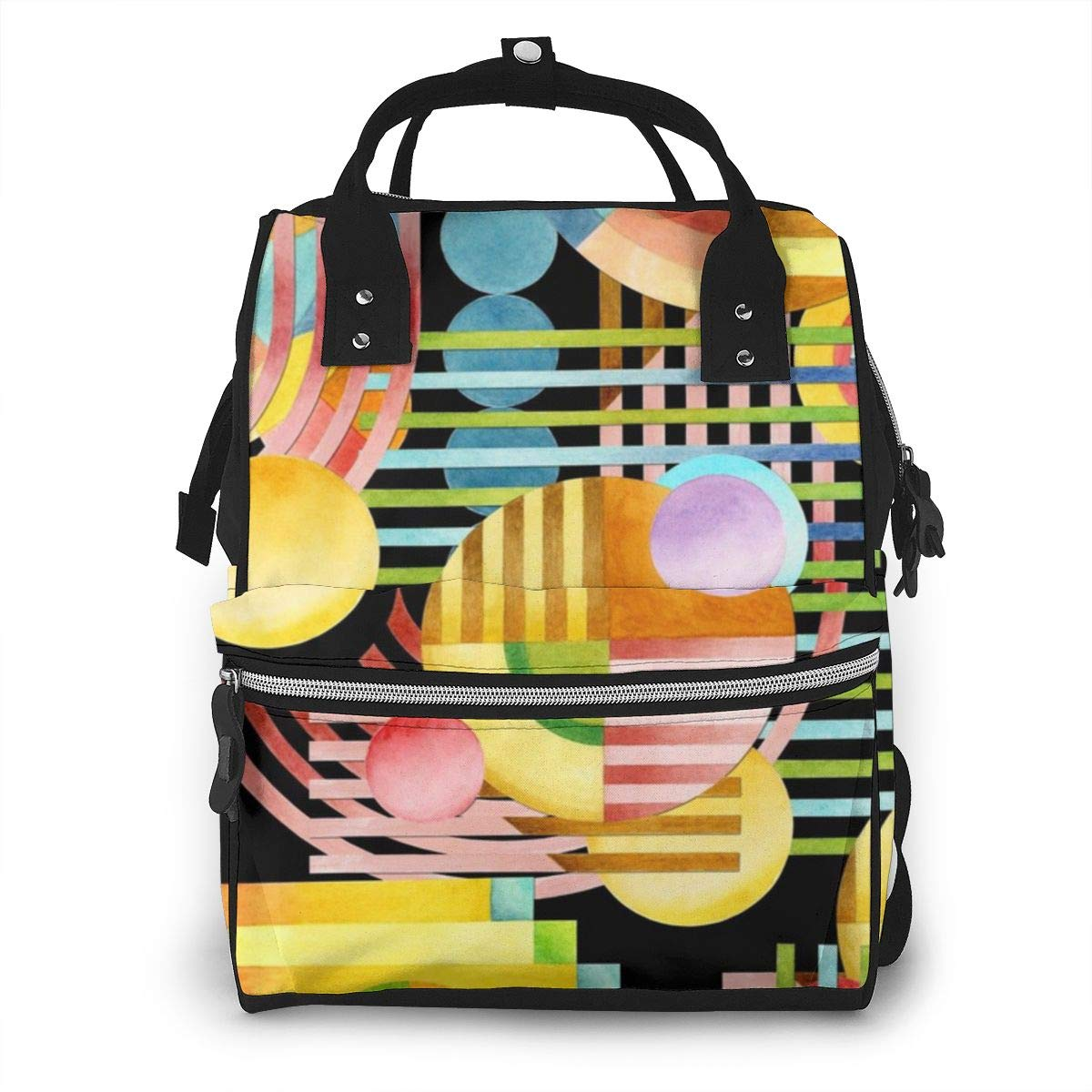 Art Deco Maximalist Fashion Diaper Bags Mummy Backpack Multi Functions Waterproof Large Capacity Nappy Bag Nursing Bag for Baby Care for Traveling