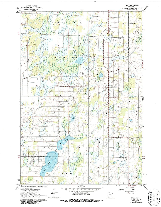 Map Print - Dalbo, Minnesota (1961), 1:24000 Scale - 24