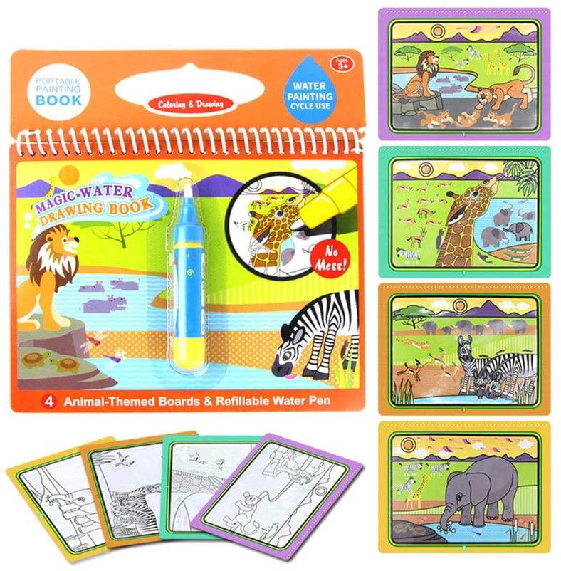 Enteta Magic Water Drawing Coloring Book Kids Birthday Gift Birthday Gift Doodle Book Doodle Pen Painting Board Children Education Toys