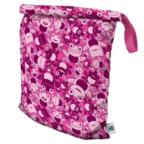 Planet Wise Roll Down Wet Diaper Bag, Hopping Holly, Medium