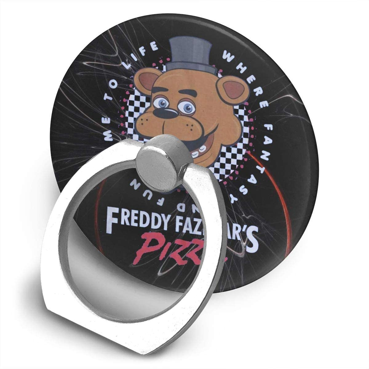Kemeicle Five Nights at Freddy's Pizza 360 Rotating Ring Stand Cellphone Bracket Holder
