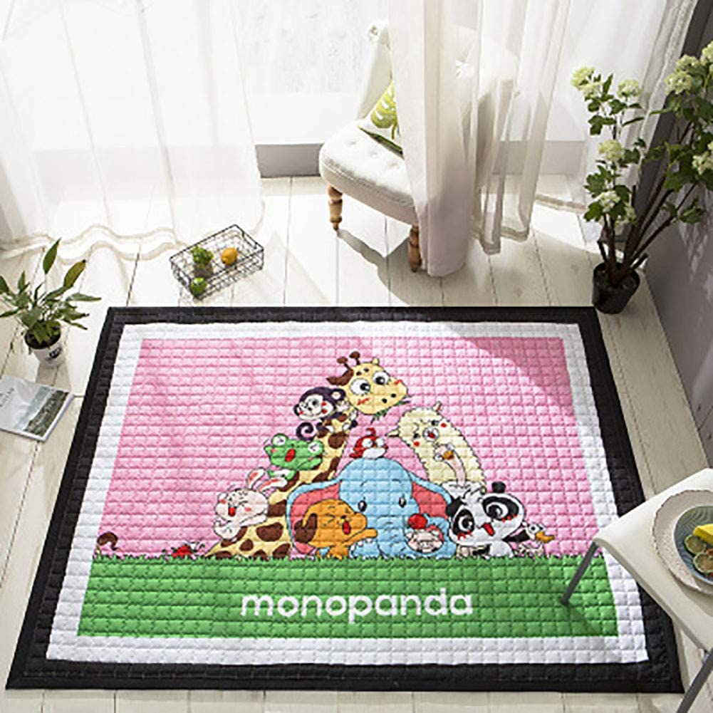 ZAIPP Baby's Bedroom,Skin-Friendly Crawling Mat,not-Slip Cotton Colorful Design Mat,Nursery Rugs for Living Room,Baby Play Mat B