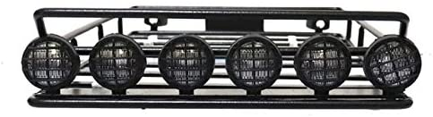 Parts & Accessories 1/10 RC 313 Wheelbase Roof Luggage Rack with LED Spotlight Light for 1:10 Wrangler for Tamiya CC01 SCX10 Axial Car Parts - (Color: Round Light)