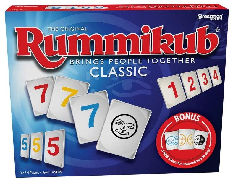 Rummikub with Bonus Jokers Game, Classic, Pressman