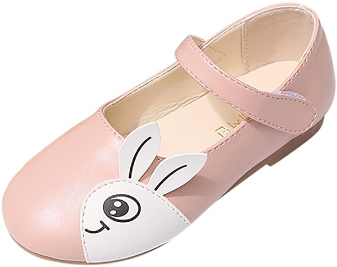 LNGRY Sandals,Toddler Kids Baby Girls Princess Cartoon Rabbit Pattern Mary Jane Casual Flats Shoes