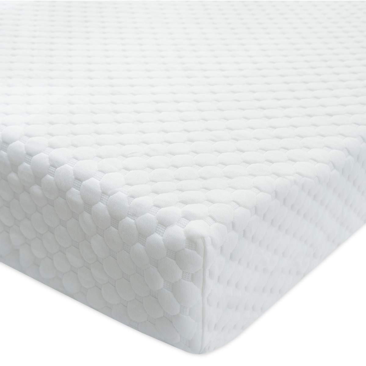 BlueSnail Bamboo Rayon Quilted Pack N Play Crib Mattress Cover - Fits All Baby Portable Mini Cribs, Play Yards and Foldable Mattresses (Off White)