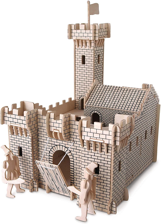 Quay Knight Castle: Woodcraft Construction Wooden 3D Model Kit P314 Age 7 plus