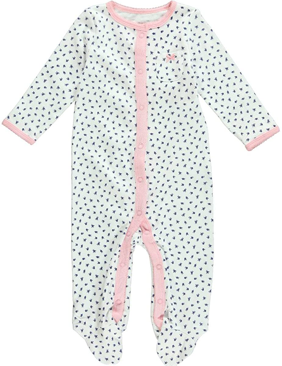 Carter's Baby Girls' Print Footie (Baby) - White/Pink - 9 Months
