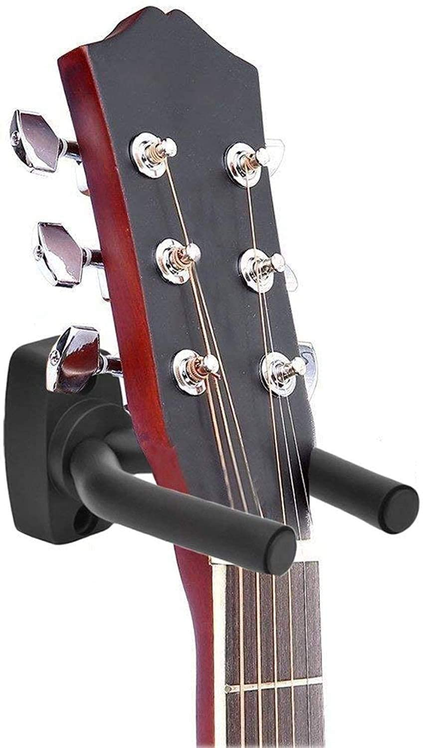 DECOMIL Guitar Holders Hooks Stands Hangers Wall Mount Display with Screws Fits All Size Guitars Bass Mandolin Banjo Ukulele (10 PCS)