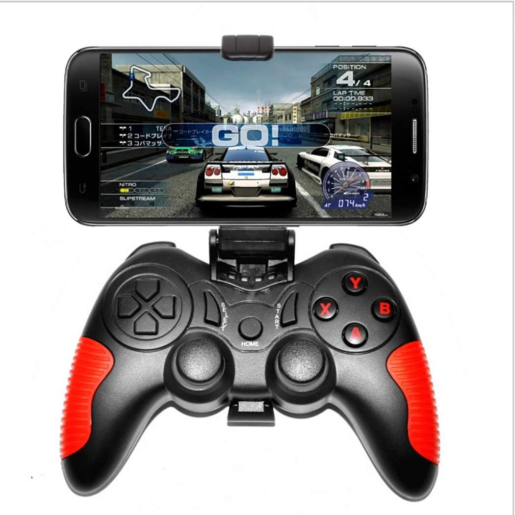 HWZDQLK Game Controller, Controller Wireless Gamepad, Rechargeable Game Phone Controller, Compatible with Android/iOS Phone, Tablet, TV, TV Box, PC, Bluetooth Receiver Included