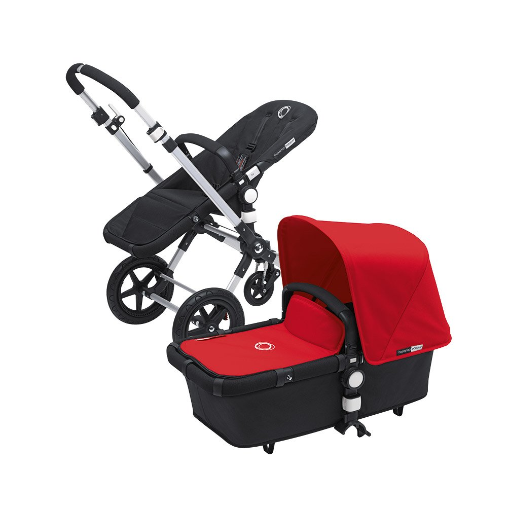 Bugaboo Cameleon 3 Stroller Black Base With New Extendable Sun Canopy (Red)