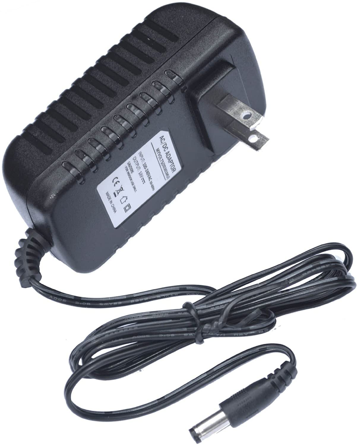 MyVolts 12V Power Supply Adaptor Compatible with Kawai L1 Keyboard - US Plug