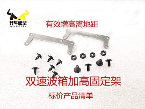 Parts & Accessories MN Model 1:12 D90 D91 RC car Spare Parts Double Speed Wave Box Metal Raising Bracket - (Color: 1set)