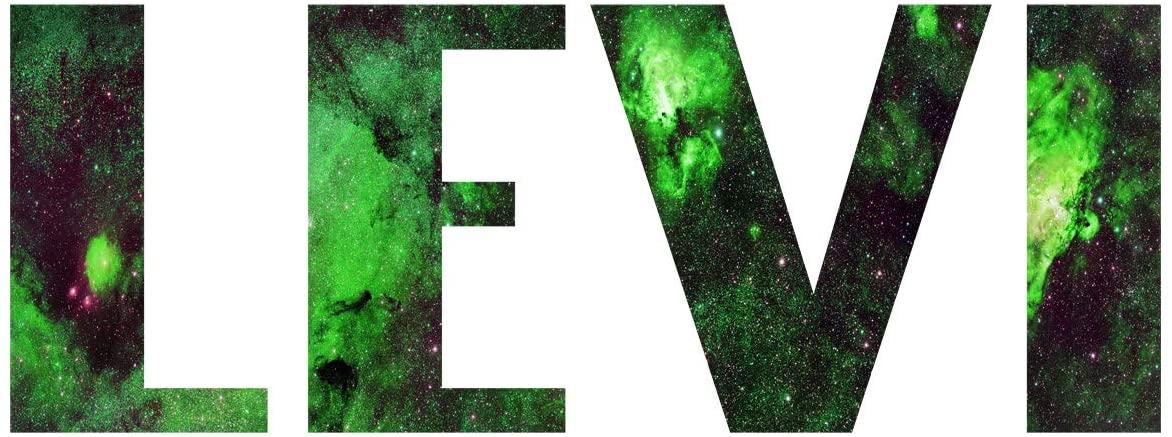 VWAQ Customized Nebula Vinyl Wall Decal - Galaxy Sticker Personalized Kids Name Decor - Horizontal-GN20 (4