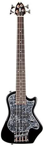 Shredneck Z-Series Travel Bass - Black with Black Pearl P/G - STBS-BK-BP