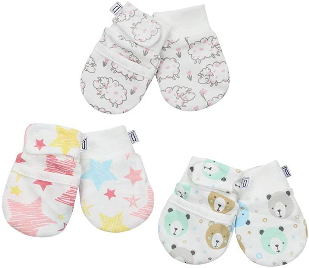 Darlyng & Co.'s Anti-Scratch Newborn Baby Mittens (0-6 months)