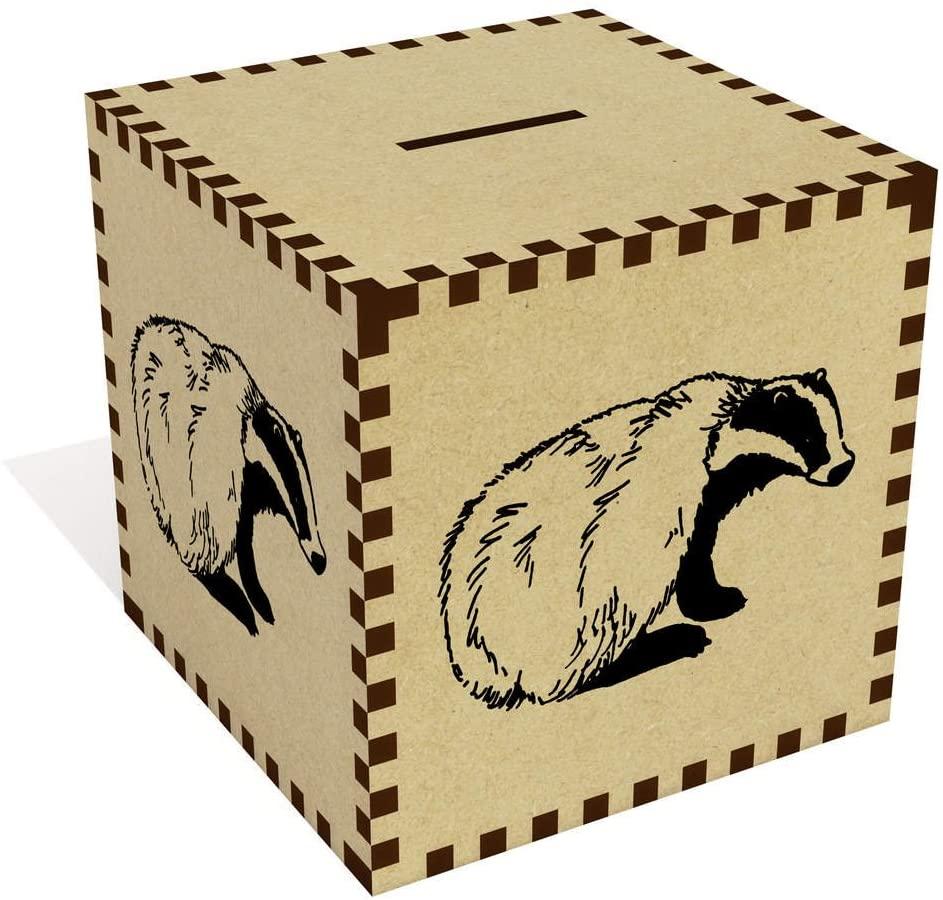 Azeeda Large 'Sitting Badger' Money Box / Piggy Bank (MB00043536)