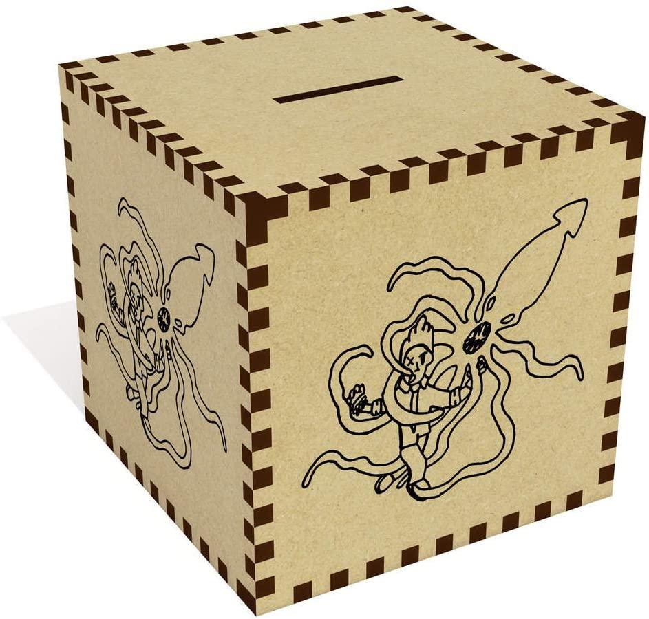 Azeeda Large 'Squid Battle' Money Box / Piggy Bank (MB00012374)