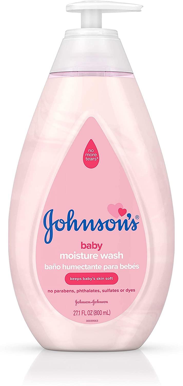 Johnsons Gentle Baby Body Moisture Wash, Tear-Free, Sulfate-Free, 27.1 fl. oz