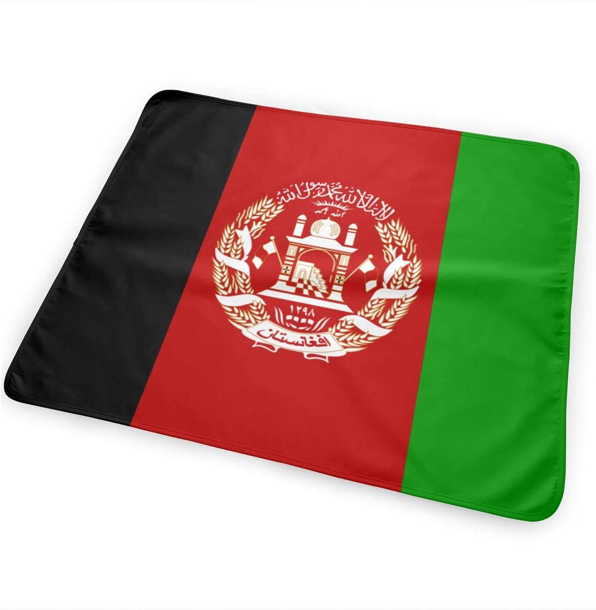 Afghan Flag Breathable Urine Mat Waterproof Changing Pad for Baby Washable Mattress Pad Sheet Protector