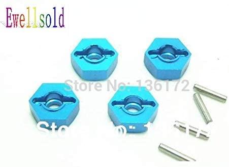 Parts & Accessories Ewellsold 1sets RC Car Alloy Wheel Rim Nuts/Adaptor Hub for 1/10 RC car - (Color: 4mm)