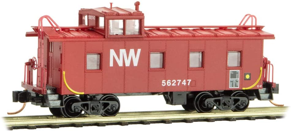 Micro-Trains MTL N-Scale 36ft Steel Cupola Caboose Norfolk & Western/NW #562747