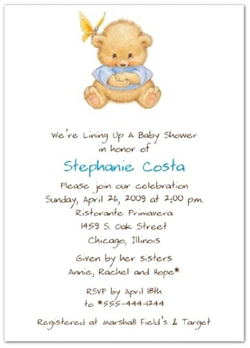 Special Surprise Blue Baby Shower Invitations - Set of 20